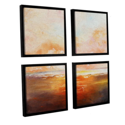 Brushstone Brushstone Eclipsed By Glory 4-pc. Square Floater Framed Canvas Wall Art