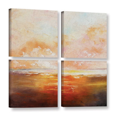 Brushstone Brushstone Eclipsed By Glory 4-pc. Square Gallery Wrapped Canvas Wall Art