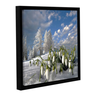 Brushstone February Fair-Maid Gallery Wrapped Floater-Framed Canvas Wall Art