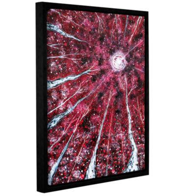 Brushstone Crimson Winter Gallery Wrapped Floater-Framed Canvas Wall Art
