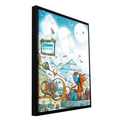 Brushstone Cydonia Gallery Wrapped Floater-FramedCanvas Wall Art