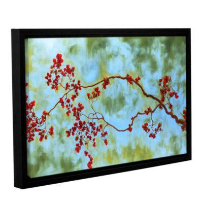 Brushstone Crimson Bough Gallery Wrapped Floater-Framed Canvas Wall Art