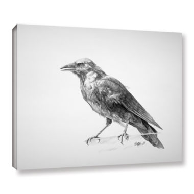 Brushstone Brushstone Crow Drawing Gallery WrappedCanvas Wall Art