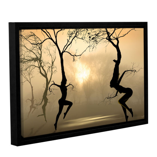 Brushstone Dancing Trees Gallery Wrapped Floater-Framed Canvas Wall Art