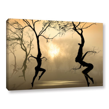 Brushstone Dancing Trees Gallery Wrapped Canvas Wall Art