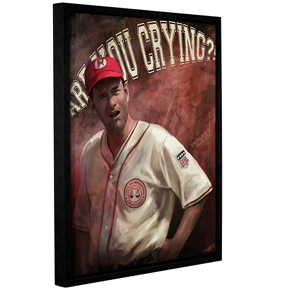 Brushstone Are You Crying Gallery Wrapped Framed Canvas Wall Art
