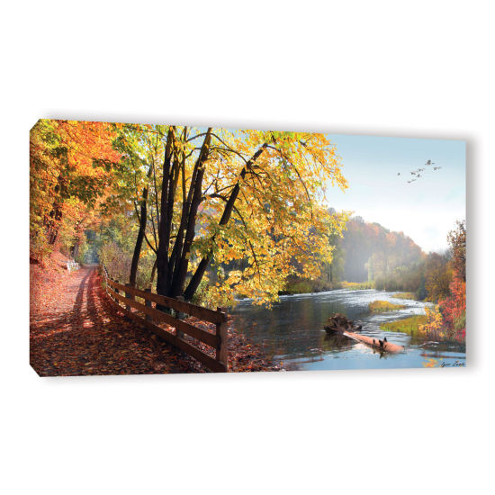Brushstone Autumn Trail Gallery Wrapped Canvas Wall Art