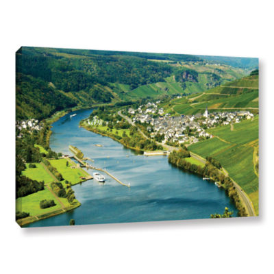 Brushstone Enkrich; Mosel River Gallery Wrapped Canvas Wall Art