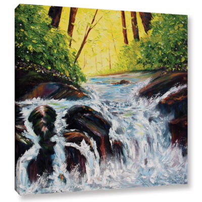 Brushstone By Flowers Waters Gallery Wrapped Canvas Wall Art