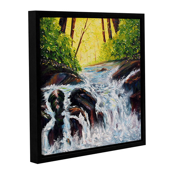 Brushstone By Flowers Waters Gallery Wrapped Floater-Framed Canvas Wall Art