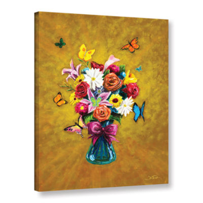 Brushstone Carly's Bouquet Gallery Wrapped CanvasWall Art