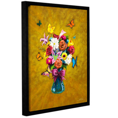 Brushstone Carly's Bouquet Gallery Wrapped Floater-Framed Canvas Wall Art