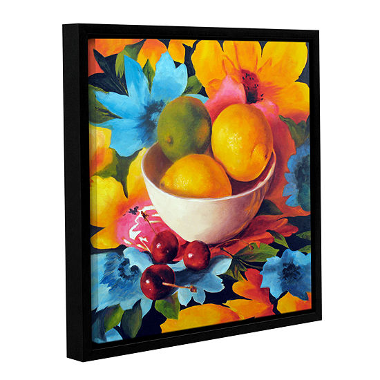 Brushstone Cherry Surprise Gallery Wrapped Floater-Framed Canvas Wall Art