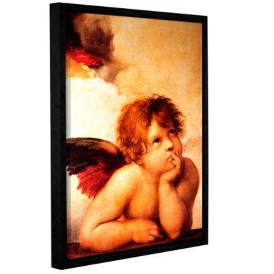 Brushstone Cherub Gallery Wrapped Floater-Framed Canvas Wall Art