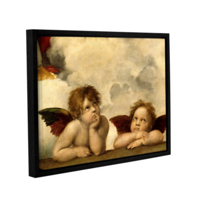 Brushstone Cherubs Gallery Wrapped Floater-FramedCanvas Wall Art