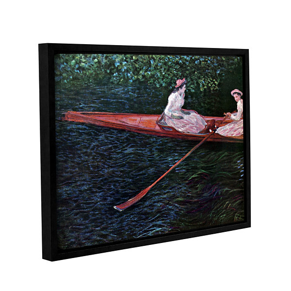 Brushstone Canoe Gallery Wrapped Floater-Framed Canvas Wall Art