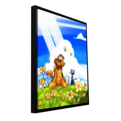 Brushstone Cat And Dog Gallery Wrapped Floater-Framed Canvas Wall Art