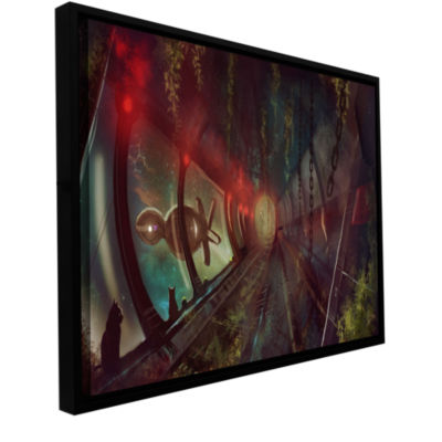 Brushstone Cats In Space 2 Gallery Wrapped Floater-Framed Canvas Wall Art