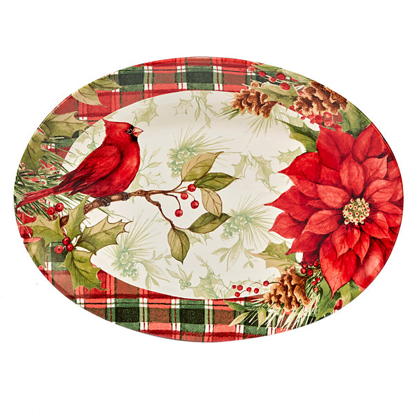 Certified International Winter Field Notes Oval Serving Platter