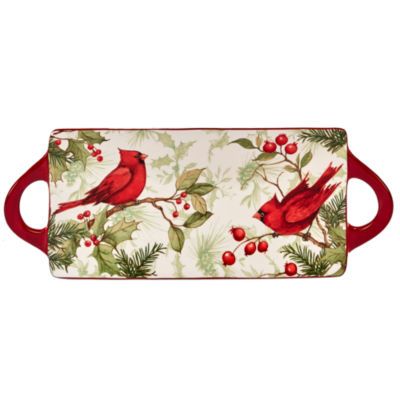 Certified International Winter Field Notes Handle Serving Platter