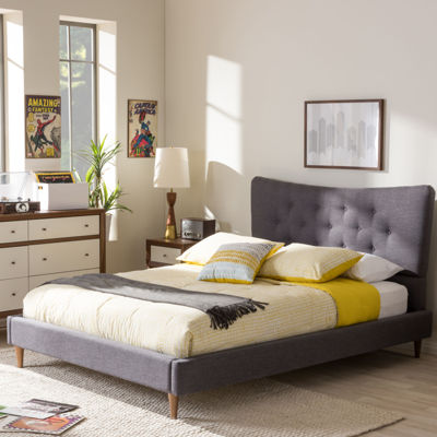 Baxton Studio Hannah Platform Tufted Bed