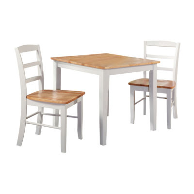 Ladderback 3-pc. Square Dining Set