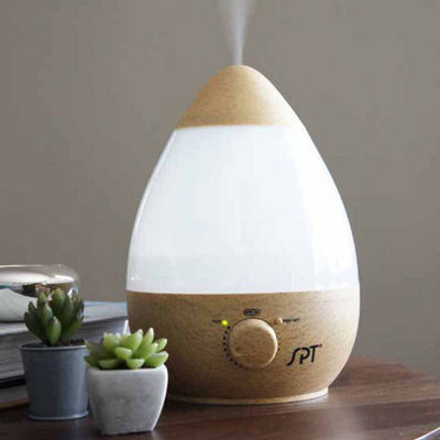 SPT SU-2550GN: Ultrasonic Humidifier with Fragrance Diffuser [Wood Grain]