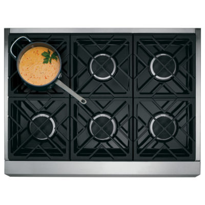 "GE Café™ Series 36"" Dual Fuel Professional Range with 6 Burners (Natural Gas)"