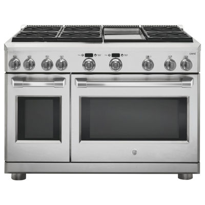 "GE Café™ Series 48"" Dual-Fuel Professional Range with 6 Burners and Griddle (Natural Gas)"