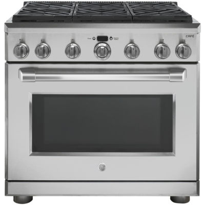 "GE Café™ Series 36"" All Gas Professional Range with 6 Burners (Natural Gas)"