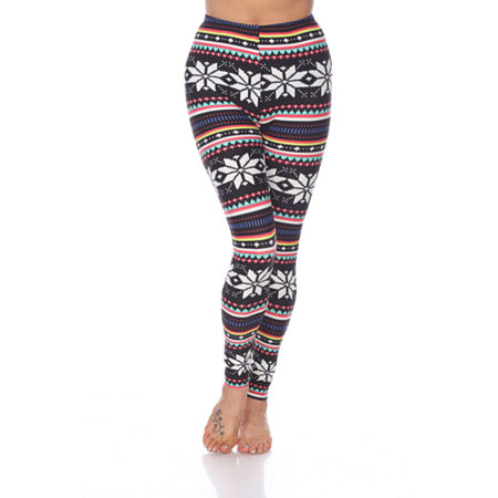 White Mark Women's One Size Fits Most Printed Leggings, One Size Fits Most , Multiple Colors