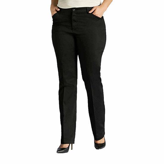 LEE Womens Flex Motion Regular Fit Straight Leg Pant
