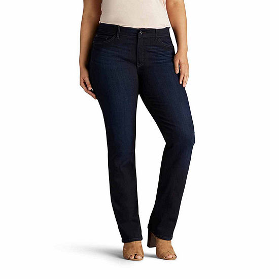3af3997b7c01a Lee Total Freedom Straight Leg Jean Plus JCPenney