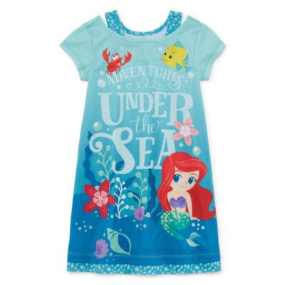 Disney Long Sleeve The Little Mermaid Nightshirt-Big Kid Girls
