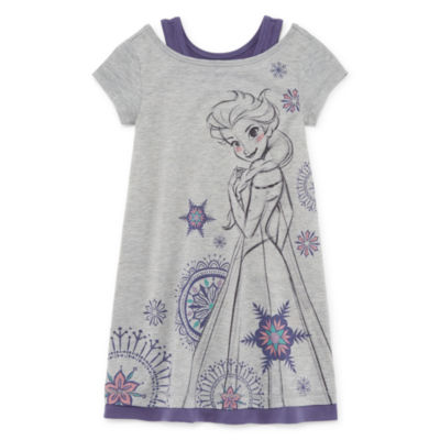 Disney Short Sleeve Frozen Nightshirt-Toddler Girls