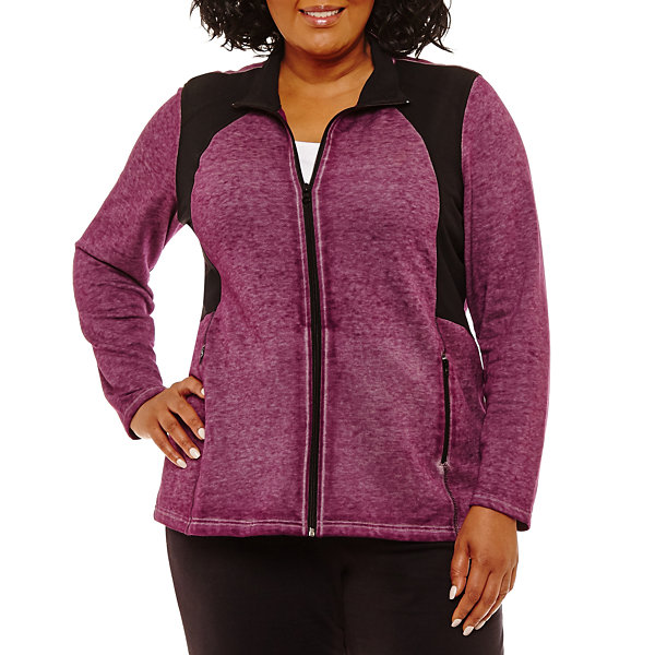 Long Sleeve Recess Full Zip Jacket-Plus