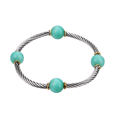 Footnotes Footnotes Womens Green Stretch Bracelet