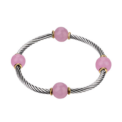 Footnotes Womens Pink Stretch Bracelet