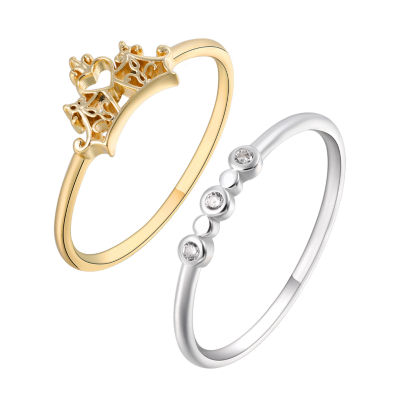 Disney Disney Womens Genuine Clear Silver Over Brass