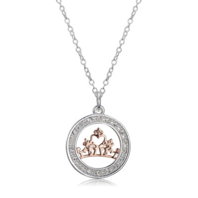 Disney Disney Womens Round Disney Princess Pendant Necklace