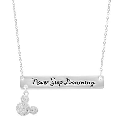Disney Disney Womens Clear Mickey Mouse Pendant Necklace