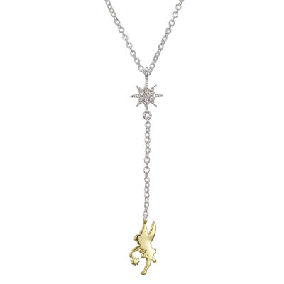 Disney Disney Womens Clear Tinker Bell Pendant Necklace
