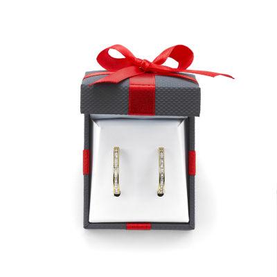 1/2 CT. T.W. Diamond Hoop Earrings