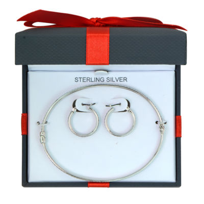 Womens 2-pc. Sterling Silver Jewelry Set