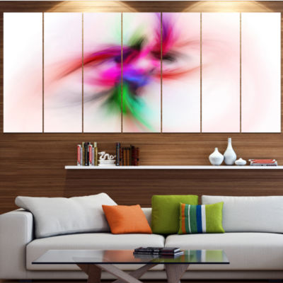 Designart Colorful Electromagnetic Field AbstractWall Art Canvas - 6 Panels