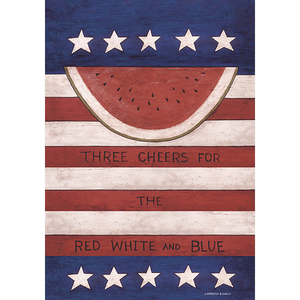 LANG Red White & Blue Large Flag