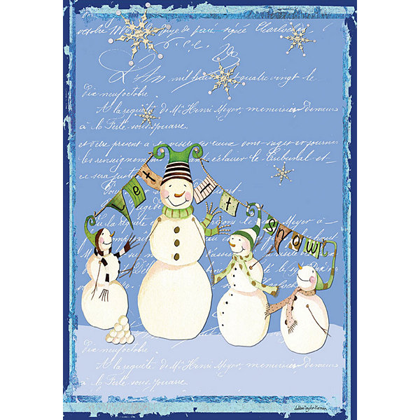 LANG Glowing Snowman Large Flag