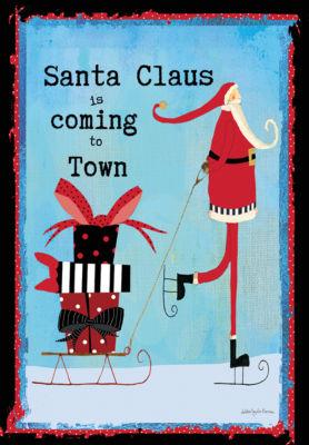 LANG Santa Claus Large Flag