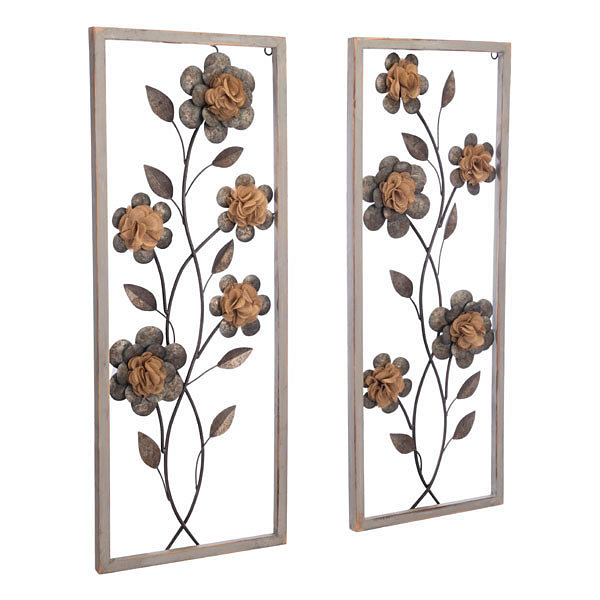 Daisy Set Of 2 Metal Wall Art