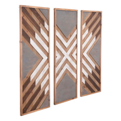 Corners Set Of 3 Metal Wall Art